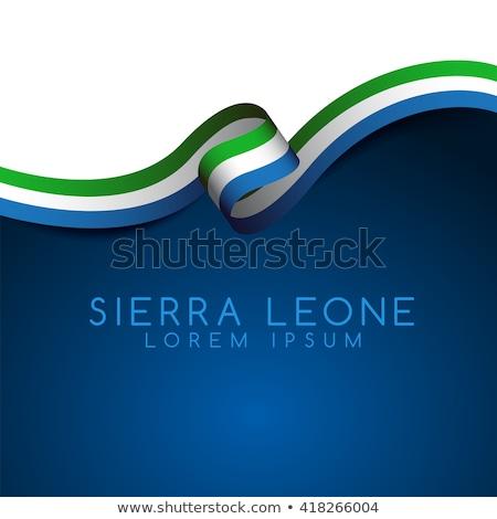 Sierra Leone flag themes idea design Stock photo © kiddaikiddee