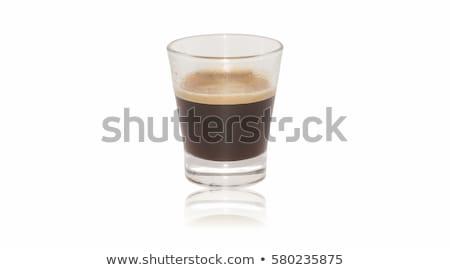 белый Кубок эспрессо выстрел изолированный продовольствие Сток-фото © punsayaporn