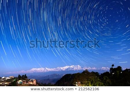 Star Nepal köy himalayalar gökyüzü dağ Stok fotoğraf © dutourdumonde