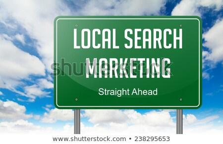 marketing · autópálya · útjelző · tábla · út · internet · háttér - stock fotó © tashatuvango
