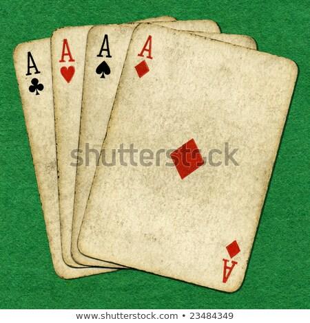 quatre · vieux · vintage · sale · poker - photo stock © latent