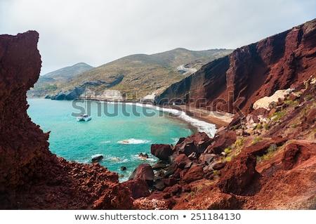 Klif rotsen santorini eiland Griekenland Stockfoto © photocreo