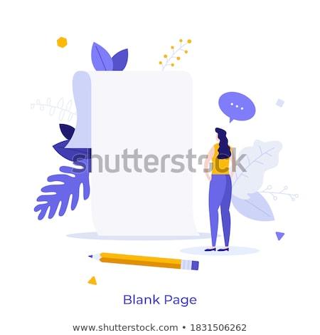 novo · começar · projeto · negócio · papel - foto stock © hin255