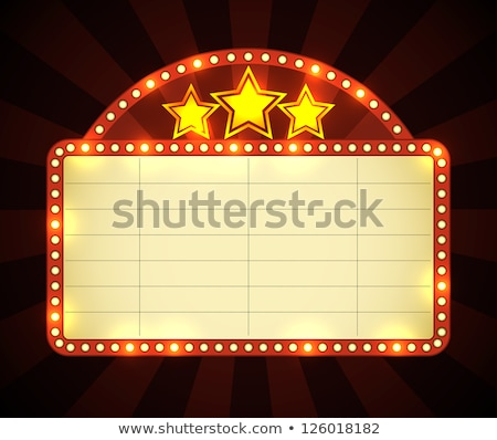 Blank movie, theater or casino marquee Stock photo © m_pavlov