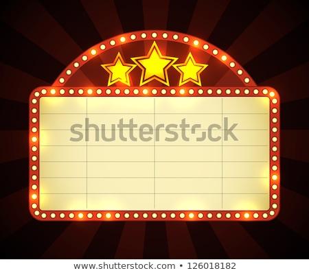 retro · star · cartellone · vettore · rosso · teatro - foto d'archivio © m_pavlov