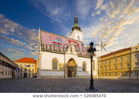 Iglesia Zagreb uno famoso edificio monumentos Foto stock © smuki