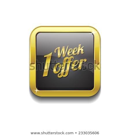 Stok fotoğraf: Hafta · teklif · altın · vektör · ikon · düğme