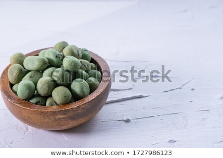 green wasabi crackers background texture stock photo © njnightsky