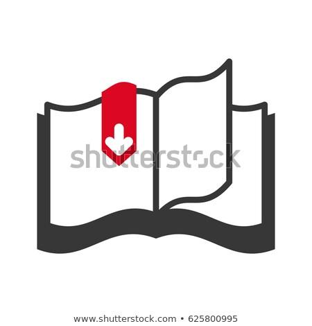 Livre électronique icône de téléchargement image affaires numérique blanche Photo stock © cteconsulting
