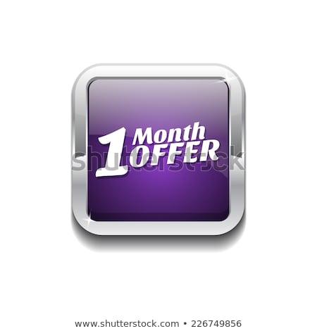1 месяц предлагать Purple вектора икона кнопки Сток-фото © rizwanali3d