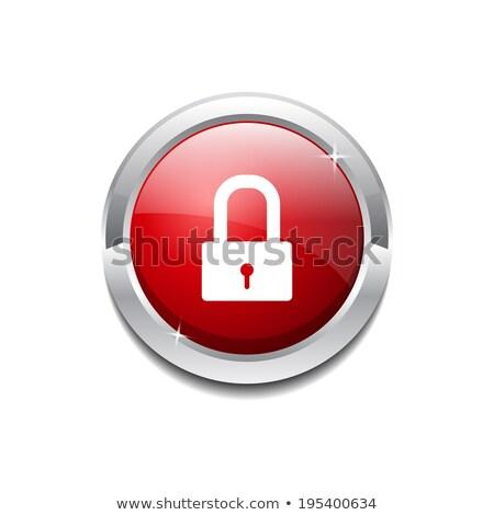 unlock circular red vector web button icon stock photo © rizwanali3d