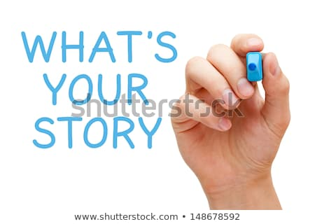 Share Your Story Blue Marker Stock photo © ivelin