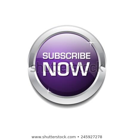 Maintenant pourpre circulaire vecteur bouton affaires Photo stock © rizwanali3d