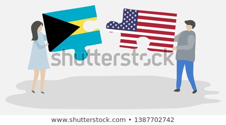 USA and Bahamas Flags in puzzle  Stock photo © Istanbul2009