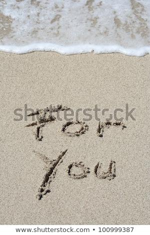 Szeretet rajzolt arany tengerparti homok szimbolikus szív Stock fotó © ozgur