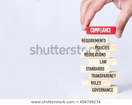 compliance concept with word on folder stock photo © tashatuvango