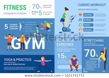 Mujer salud fitness infografía moderna vector Foto stock © vectorikart