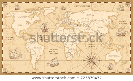 Stock photo: world map vintage artwork