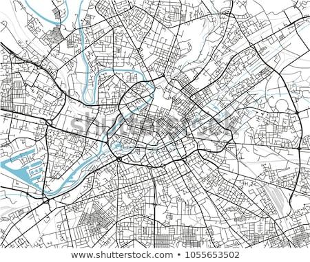 Straßenkarte rot Pin Stadt Straße Hintergrund Stock foto © chris2766