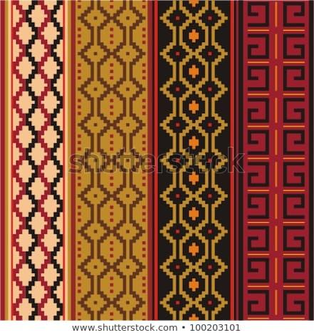 幾何学的な ベクトル ストリップ モチーフ 異なる ストックフォト © balabolka