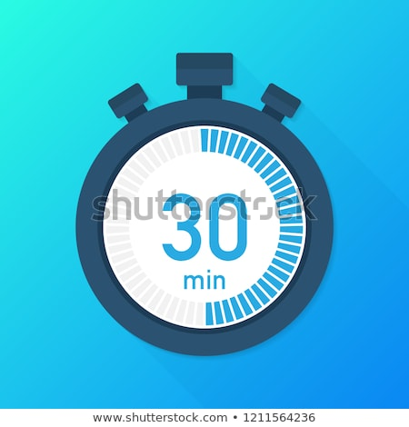 Stop Watch Blue Vector Icon Design Stock photo © rizwanali3d
