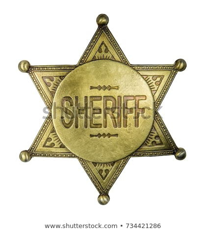 szeryf · odznakę · star · wektora · policji · złoty - zdjęcia stock © netkov1
