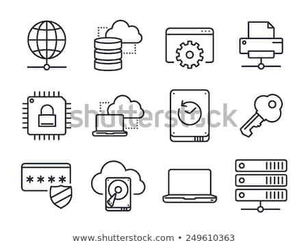Networks Icon Set 01 Stock photo © Genestro