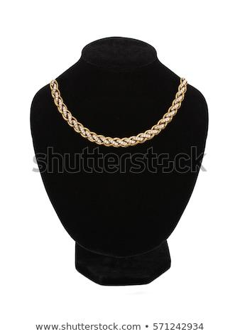 beautiful golden necklace on mannequin isolated on white Stock photo © tetkoren