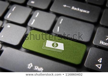Portemonnee geld toetsenbord online bancaire business Stockfoto © jordanrusev