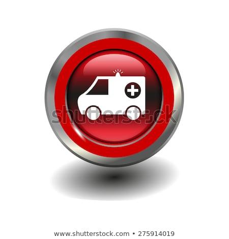 скорой красный вектора икона кнопки интернет Сток-фото © rizwanali3d