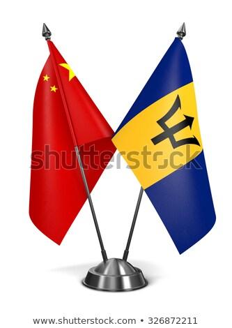 China Barbados miniatura bandeiras isolado branco Foto stock © tashatuvango