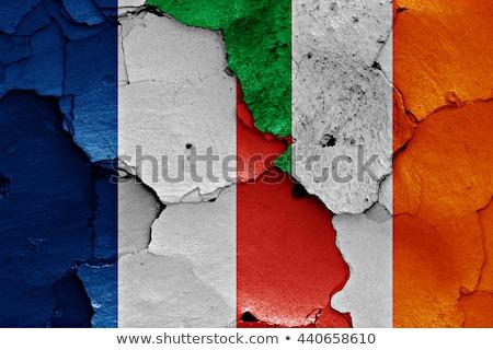 Francia Irlanda banderas rompecabezas aislado blanco Foto stock © Istanbul2009