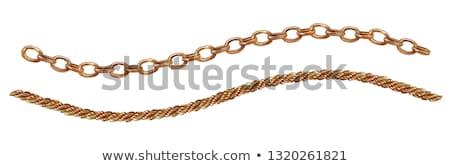 Сток-фото: коллекция · цепь · Веревки · белый · фон · кабеля