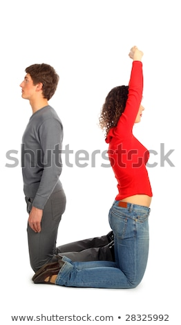 young man and woman represents  letter u Stock photo © Paha_L