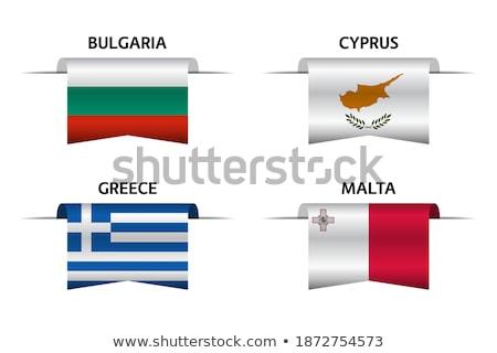 Malta país bandeira mapa forma texto Foto stock © tony4urban