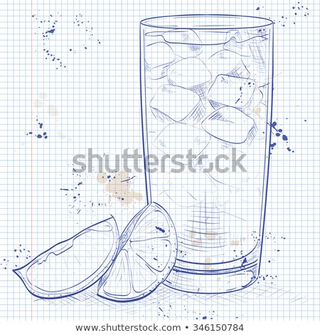 Cocktail Horse Neck on a notebook page Stock photo © netkov1