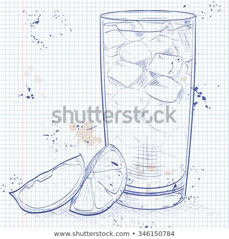 vidrio · jengibre · cerveza · inglesa · casero · limón · cal - foto stock © netkov1