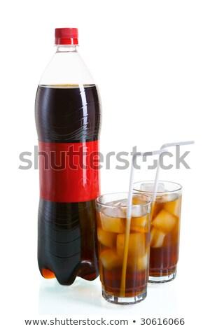бутылку Cola два очки изолированный белый Сток-фото © Escander81