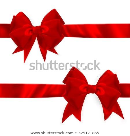 Brillante rojo raso arco establecer eps Foto stock © beholdereye