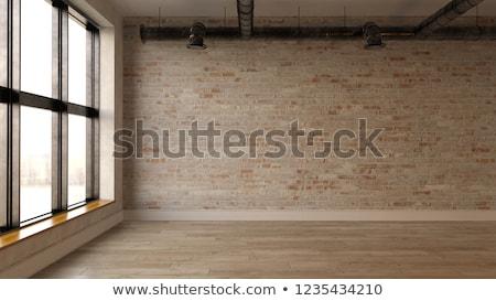abandonado · industrial · interior · construção · pintar · fundo - foto stock © konradbak