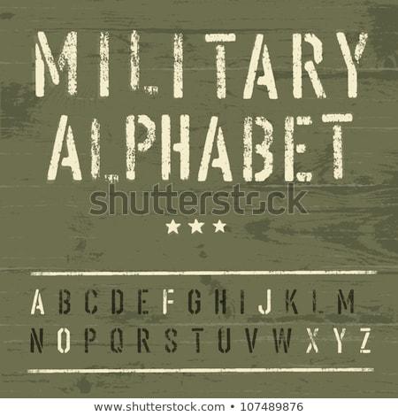 Militar mensagem ver outro documentação fundo Foto stock © ssuaphoto