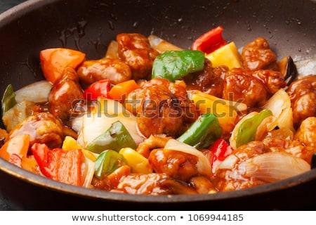 sweet and sour pork stock photo © lana_m