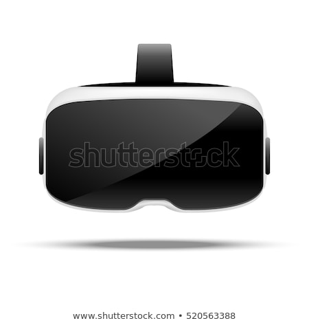 Glasses for virtual reality in 3D. Front view. Stock photo © Samoilik