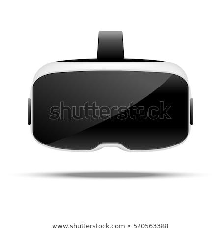 okulary · faktyczny · rzeczywistość · 3D · front · widoku - zdjęcia stock © Samoilik
