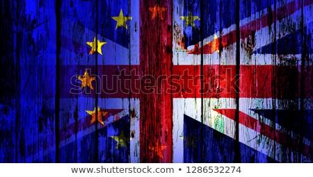 Brit zászló EU keverék zászló európai szövetség Stock fotó © Bigalbaloo