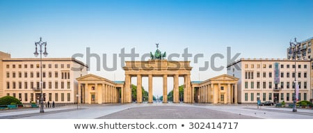panorama of Brandenburger Tor with sky and view to Unter den Lin Stock photo © meinzahn