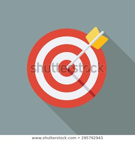 vektor · terv · íjászat · íj · nyíl · ikon - stock fotó © angelp