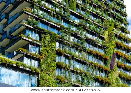 Verde costruzione casa naturale abstract logo Foto d'archivio © acong_kecil