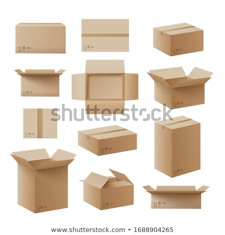 Expedição caixas conjunto frete grátis e-mail entrega Foto stock © pakete