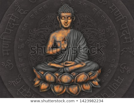 Buddha mandala colorato silhouette asian Foto d'archivio © hpkalyani